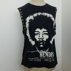 RCN Jimmi Hendrix Black Concert Tank Small